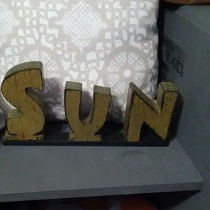 Other - Wooden sun decor word